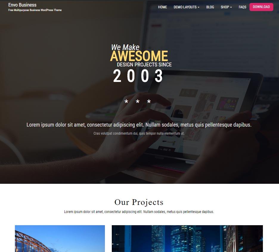 Envo Business – Free Multipurpose Business WordPress Theme