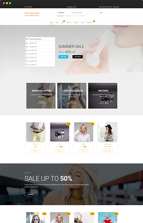 Free Woocommerce Theme For Wordpress Envothemes