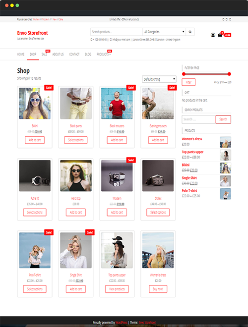 Free Woocommerce Theme For Wordpress Envo Storefront